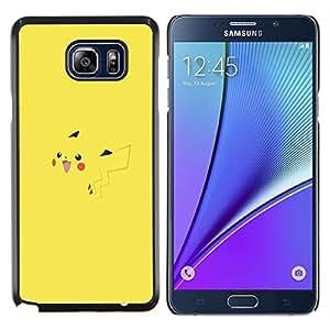 "Be-Star Único Patrón Plástico Duro Fundas Cover Cubre Hard Case Cover Para Samsung Galaxy Note5 / N920 ( P1Kachu P0kemon"" )"