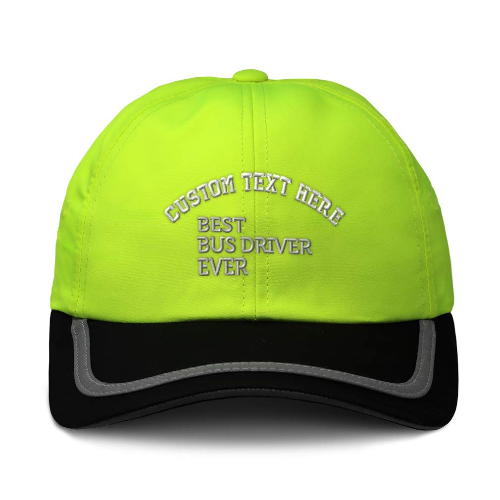 Custom Reflective Running Hat Best Bus Driver Ever Embroidery Polyester One Size