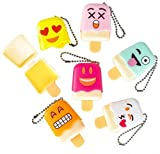 ice cream lip gloss - 1 Dozen Of Emoji Face Emoticon Ice Pop Lip Gloss Keychain Birthday Party Favors, Great Stocking stuffer! By Blue Green Novelty