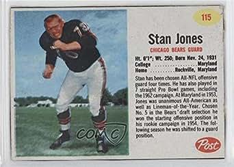 Amazon.com: Stan Jones (Football Card) 1962 Post - [Base ...