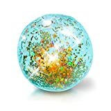 Pool Candy Glitter Inflatable 13.75 Jumbo Beach Ball - Gold
