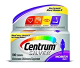 Centrum Silver Women 50+ Multivitamin/Multimineral Supplement Tablets, 100 Count Pack of 2 For Sale