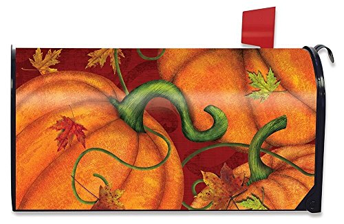Briarwood Lane Pumpkin Patch Fall Magnetic Mailbox Cover Autumn Standard by Briarwood Lane