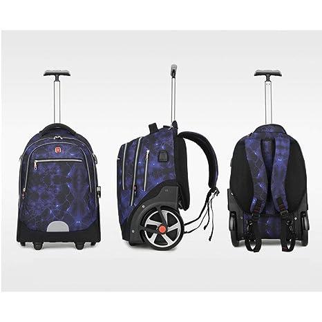 Amazon.com: JBAG Men Wheeled Backpack USB Charging, School ...