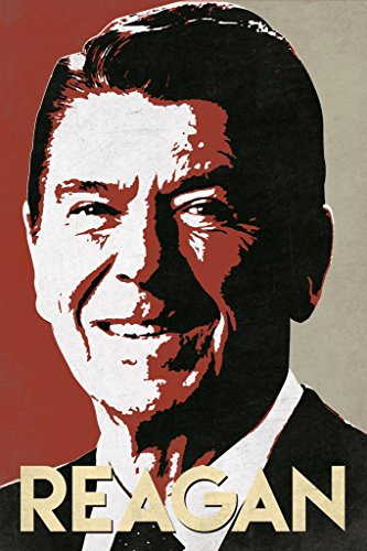 President Ronald Reagan Pop Art Portrait Poster 24x36 inch