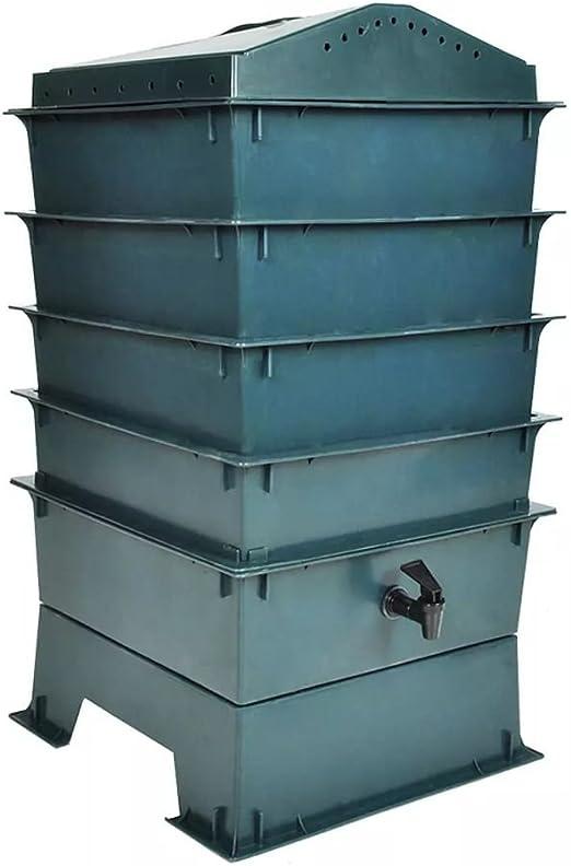 Xinglieu compostaje Basura vermicompostaggio Caja Compost. Compostador Jardín Compostador doméstica Kit Compostador Compostador Exterior Bio Compostador: Amazon.es: Jardín