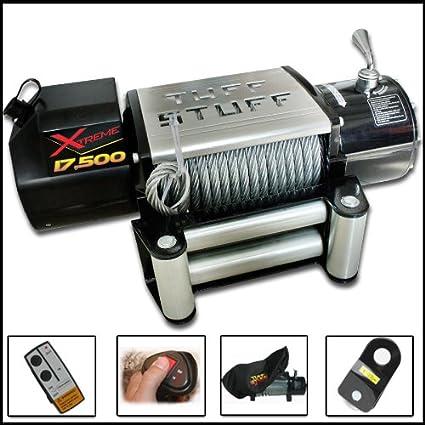 amazon com tuff stuff xtreme 17500lb wireless waterproof recovery rh amazon com