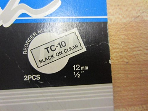 2-pack TC-10 1/2in Black On Clear Tape for Brother PT-6 8 10 12 15 20 150 170 Photo #4
