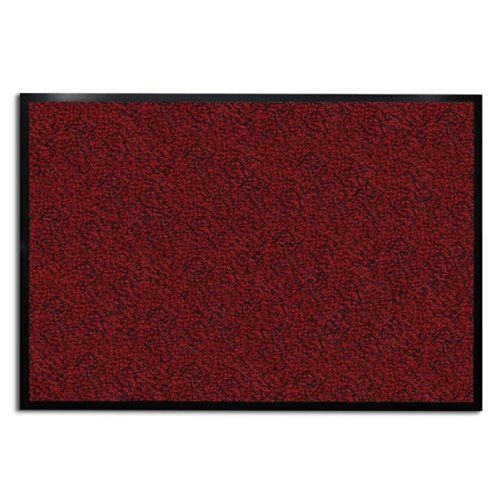 casa pura Carpet Entrance Mat, Red (Mottled) 36
