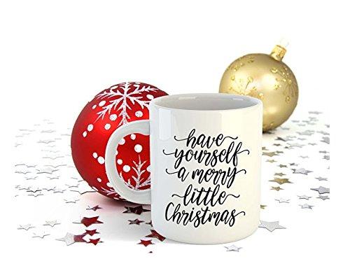 Amazon.com: Have yourself a merry little Mug Xmas gift idea Coffee ...