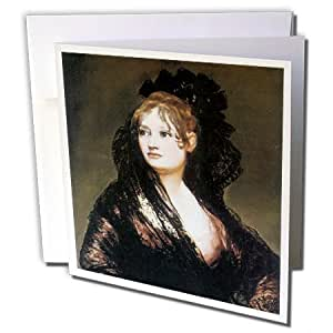 BLN Portrait Gallery by the Masters Fine Art Collection - Portrait of Dona Isabel de Porcel by Francisco De Goya - 12 Greeting Cards with envelopes (gc_128069_2)