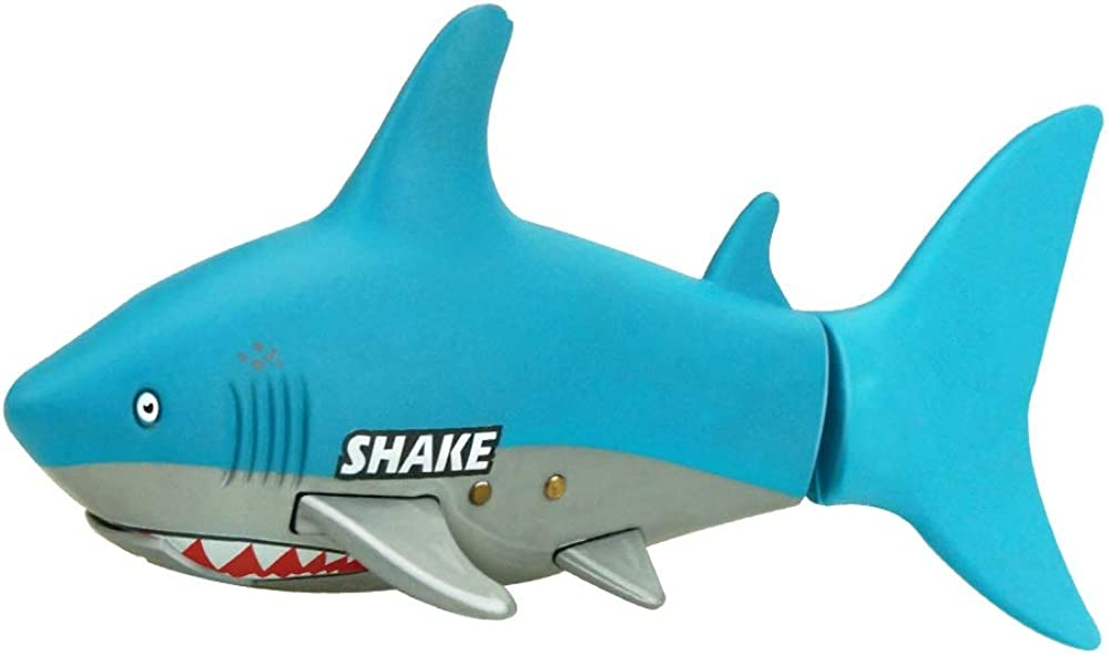 SSBH Remote Control Shark with Water Conduction Function, 2.4GHz 3 Channels Remote Control Electric Racing Boat for Pools and Lakes, Children's Water Toys, Waterproof Cola Can Packaging