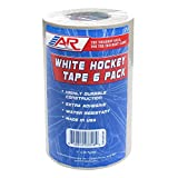A&R Sports Hockey Tape, White, 6-Pack
