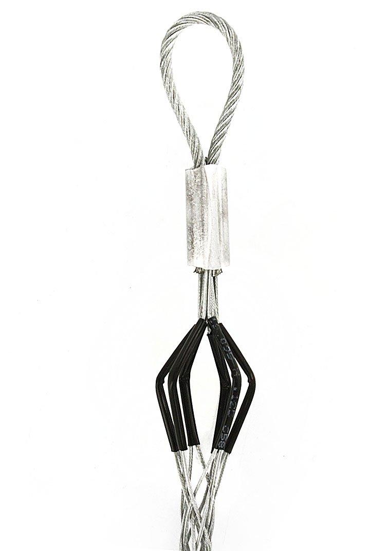 Leviton L8504 Flexible Eye, Closed Mesh, Single Weave, Junior Duty, Pulling Wire Mesh Grip .750, .990 Cable Diameter