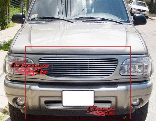 Ford Grille Explorer 01 Billet - APS Compatible with 1999-2001 Ford Explorer Billet Grille Combo N19-A05978F