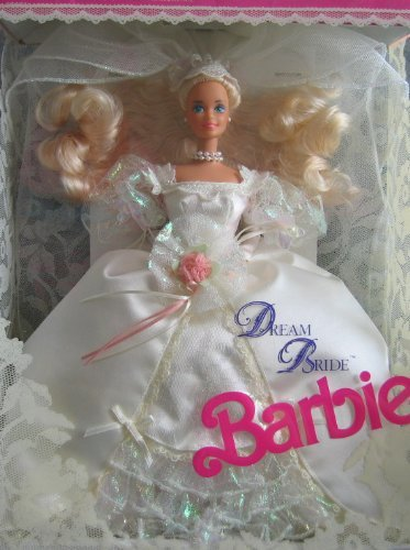 (Barbie - Dream Bride Barbie Doll - Wedding Romance in Satin + Lace! - 1991 Mattel)