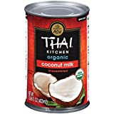 Thai Kitchen Organic Unsweetened Coconut Milk, 13.66 fl oz, Pack of 6