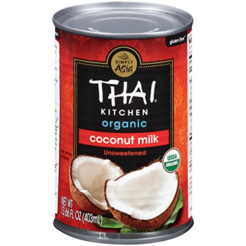 Thai Kitchen Organic Coconut Milk, 13.66 fl oz (Pack of 6, Unsweetened Dairy Free Milk)