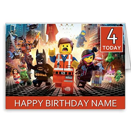 Personalizado LEGO Película Tarjeta de felicitación de ...