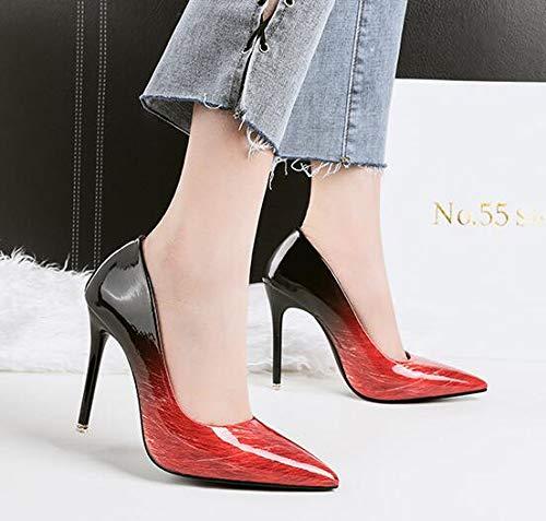 Femme Sandales 38 Red EU Compensées Rouge 3058 55 5 36 Renly tqxX11
