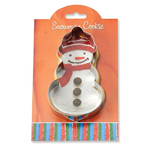 Tin Snowman Cookie (Snowman Cookie and Fondant Cutter - Ann Clark - 5 Inches - US Tin Plated Steel)