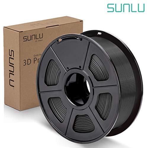 SUNLU Black PLA Plus Filament 1.75mm 3D Printer 3D Pens 1KG PLA+ Filament +/- 0.02 mm