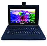 LINSAY NEW F10XHDBK Quad Core with Black Leather Keyboard 1 GB RAM DDR3 8 GB Android 4.4 Kit Kat