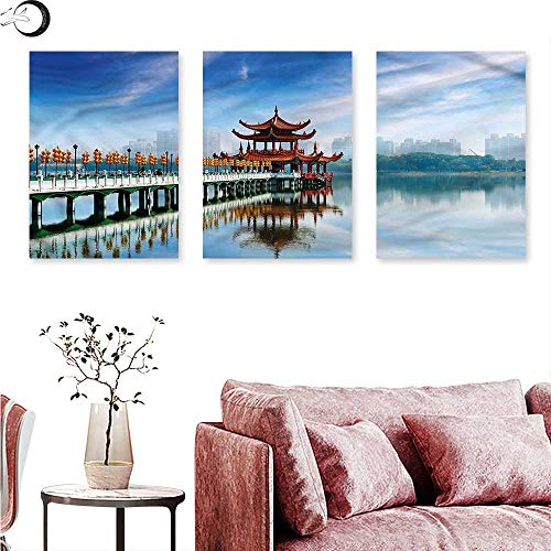 """Price comparison product image J Chief Sky Ancient China Home Decor Kaohsiung Taiwan Triptych Photo Frame W 12"""" x L 24"""" x3pcs"""