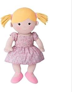 Apple Park Best Friends Doll - Ella - Toy for Babies and Children - Hypoallergenic, 100% Organic Cotton