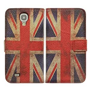 Viesrod Bfun Packing Retro Union Jack Flag Card Slot Wallet Leather Case for Samsung Galaxy S4 i9500