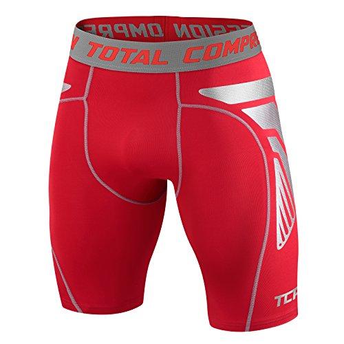 Männer Jungen Total Compression Advanced CarbonForce Pro Basis Schicht Shorts Thermal Funktionsunterwäsche Kompressionsshort Armour - Large - Red