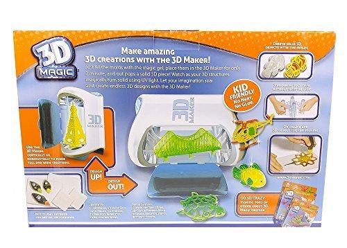 3D Maker by 3D Magic. Make Amazing 3D Creations. Kid friendly No Heat No Glue