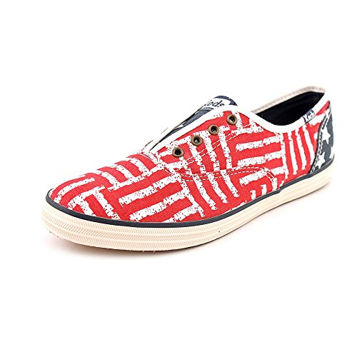 Keds Women's Champion Americana Laceless Sneaker in Red 8 M