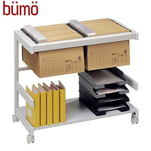 Bümö® Rollwagen | Bürowagen für Hängemappen & Ordner | Hängeregistraturwagen auf Rollen | Rollschrank mit Hängeregistratur