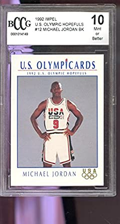 852a4a6d2d3 1992 Impel Olympicards Michael Jordan U.S. Olympics Hopefuls Graded Card  BCCG 10