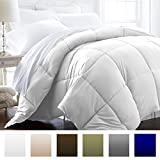 Alternative Comforter - Beckham Hotel Collection 1500 Series - Lightweight - Luxury Goose Down Alternative Comforter - Hotel Quality Comforter and Hypoallergenic  -King/Cali King - White