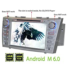 """JOYING 8"""" Android 6.0 Marshmallow 2GB Quad Core Double 2 Din Car Stereo Head Unit for Toyota Camry/Aurion 2006-2011 InDash 1024*600 HD Touch Screen Car GPS Navigation Bluetooth/USB/3G/1080p"""