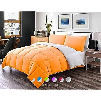 Luxe Bedding 3 PCS Reversible Down Alternative Quilted Duvet / Comforter  Set   All Season