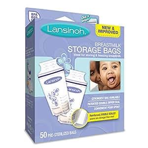 Lansinoh Breastmilk Storage Bags, 50 Count, BPA Free and BPS Free
