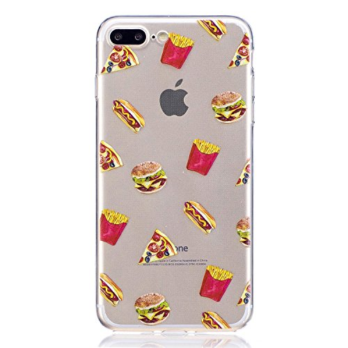 iPhone 7 Plus Custodia , Leiai Moda Cibo Silicone Morbido TPU Cover Case Custodia per Apple iPhone 7 Plus