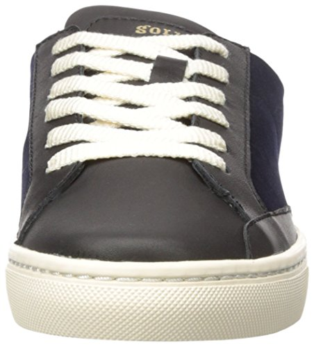 Classic Ibiza Navy Women's Black Soludos up Lace Sneaker 7PHE6