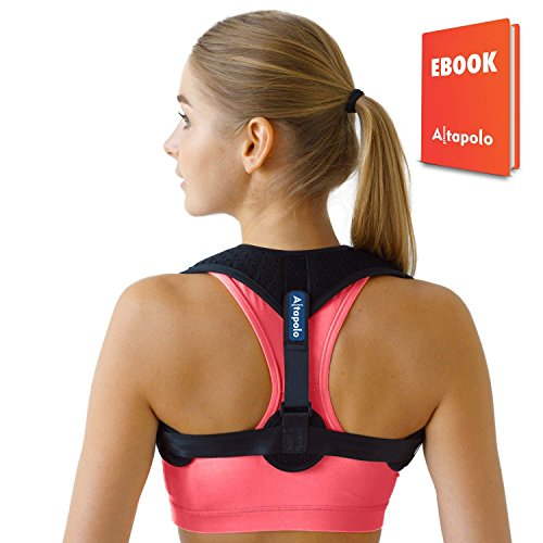 Posture Corrector for Men & Women – Adjustable Correcting Shoulder Posture Brace – Figure 8 Clavicle Posture Brace for Shoulder Alignment – Invisible Thoracic Back Brace for Hunching & Slouching by Altapolo
