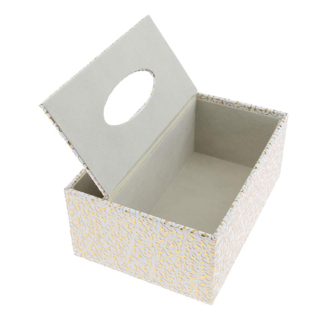 F Fityle Tissue Box Dispenser aus Kunstleder Quadrat Servietten Tissuepapier Spenderbox Taschentuchspender Serviettenhalter Champagner S