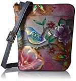 Anuschka Hand Painted Two Sided Zip Travel Organizer, Blb-Blissful Birds