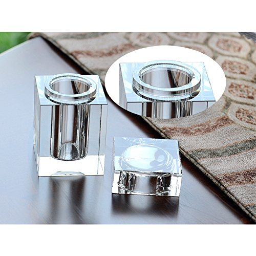 Cosy-YcY Crystal Toothpick Holder, Elegant Toothpick Dispenser, Clear Cube Toothpick Box For Housewarming Gift/Christmas,Can Be Used For Home Décor (style one) by Cosy-Yc