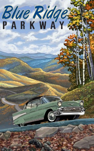 Northwest Art Mall Blue Ridge Parkway 57 Chevy North Carolina Wall Art by Paul A Lanquist, 11 by - Mall Parkway