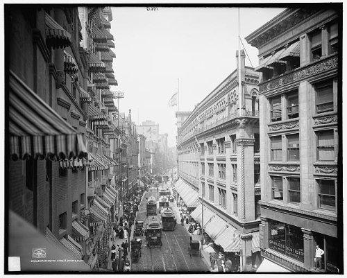 Photo: Washington Street, commercial facilities, Boston, Massachusetts, MA, c1906 1 . Size: 8x10 - Washington Ma Boston 1 Street