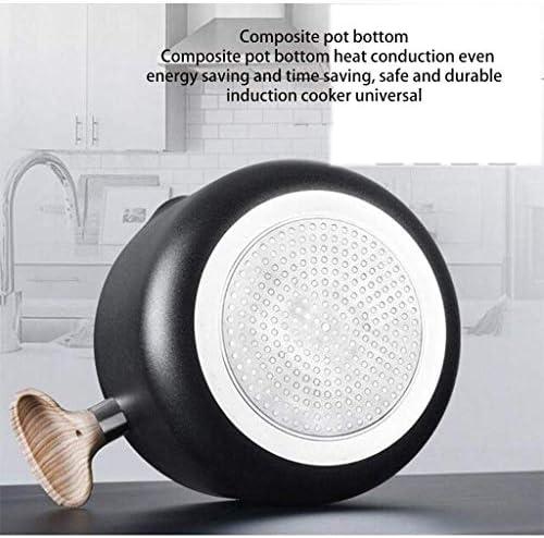 Nologo Aluminium Acier Inoxydable Total antiadhésives Lave-Vaisselle Four Coffre Marmite Batterie de Cuisine, Noir BBGSFDC