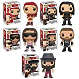 Pop! WWE Eva Marie, Seth Rollins, Bret Hart, Kevin Owens, and Bray Wyatt Vinyl Figures Set of 5!