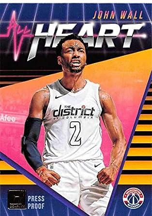 2018-19 Donruss All Heart Press Proof Basketball Card  17 John Wall  Washington Wizards 2130d1cb1